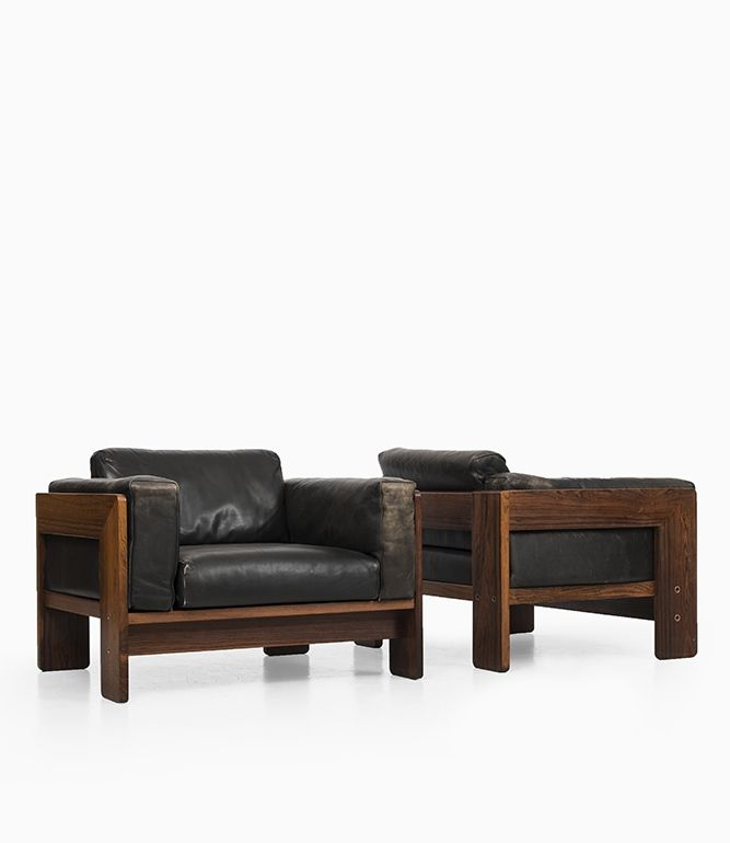 Tobia Scarpa; Rosewood and Leather u0027Bastianou0027 Lounge Chairs for - ausergewohnliche relax liege hochster qualitat