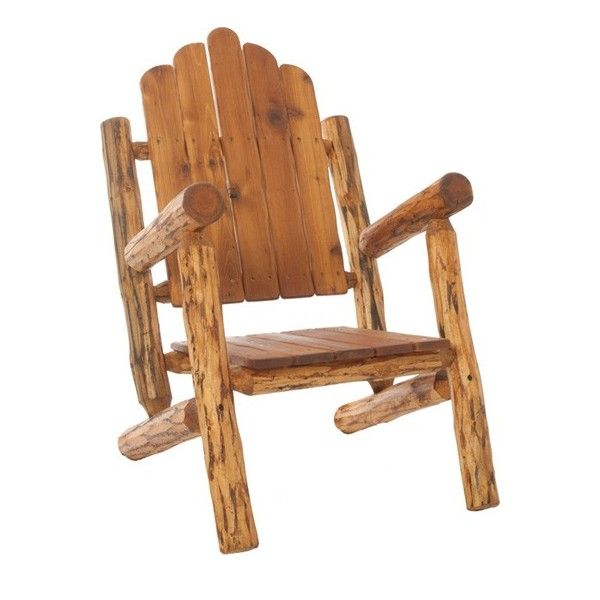 Nice Log Furniture | Handcrafted Log Furniture   Log Adirondack Chair