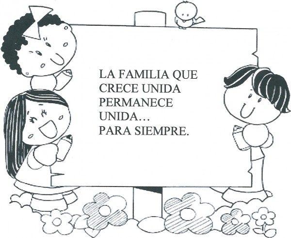 Dibujos De La Familia Para Colorear 2 Poesia De La Familia Dia De La Familia Imagenes De Familia