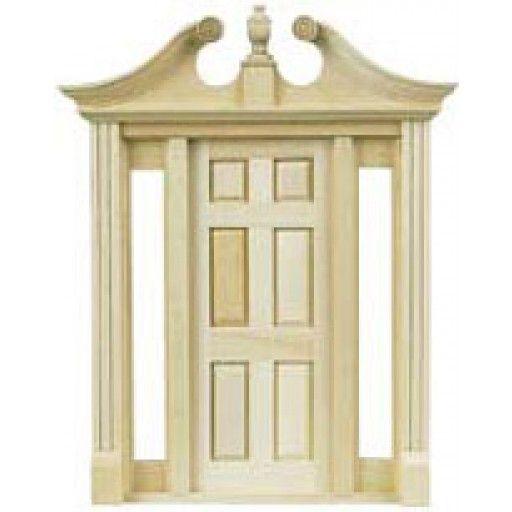 Dollhouse Miniature Deerfield Door Pediment Set of 2 Houseworks