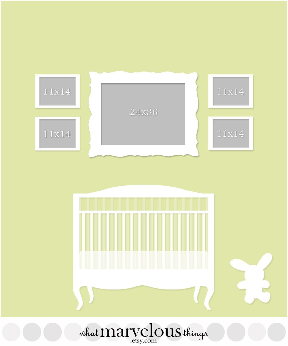 Nursery Wall Display Template - This is great for anyone who would ...