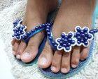 Chinelo de Pérolas Azul