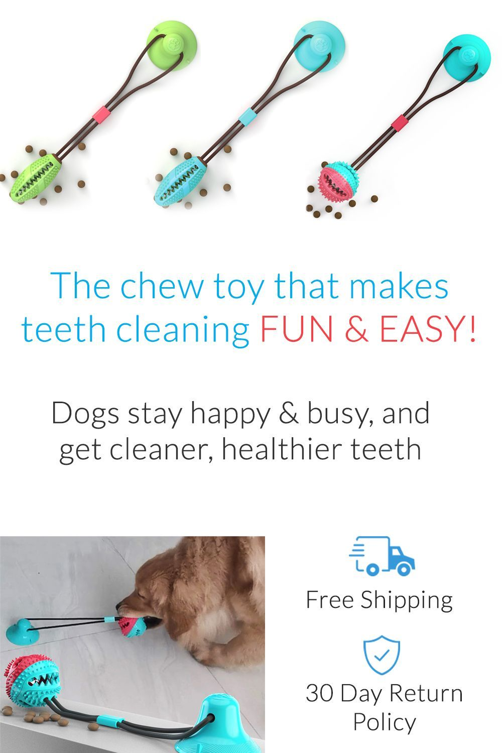 Dog Toothbrush Toy, Easy way to clean dog's teeth in 2020