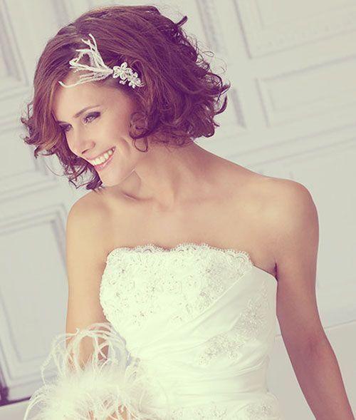 Peinados para novias con melena corta  pelo estilo Bob  000f1e948dd5