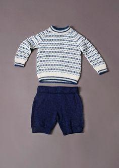 Børne Ragland trøje med mønster - gratis PDF opskrift (Norsk)