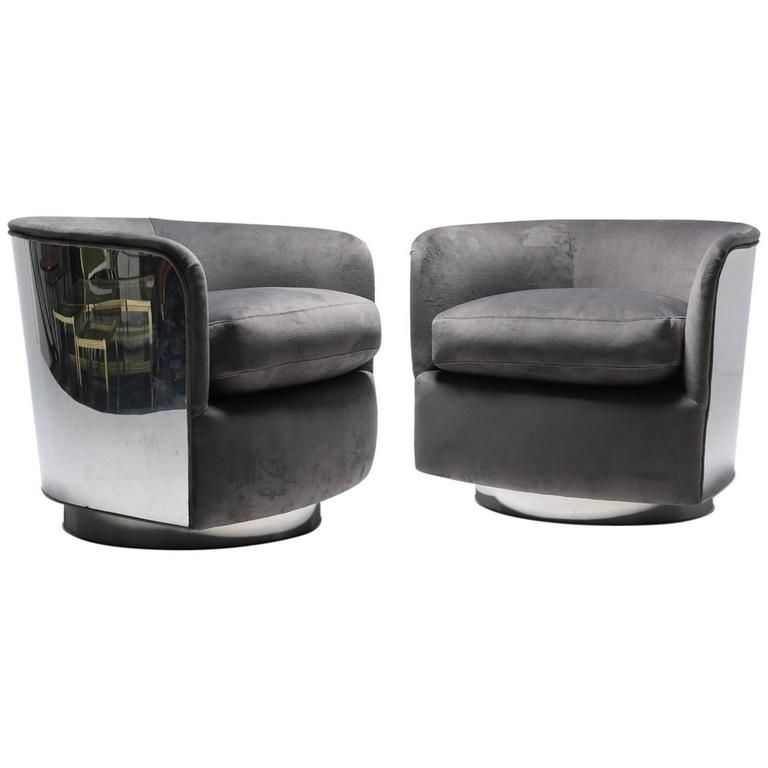 Mid-Century Modern Tub Chairs by Milo Baughman   Tub chair, Modern ...