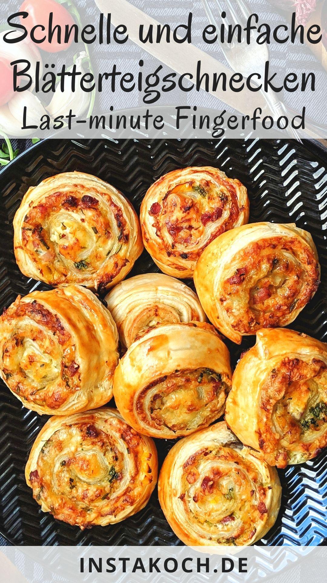 Photo of Blätterteigschnecken – Schnelles Fingerfood für die Silversterparty