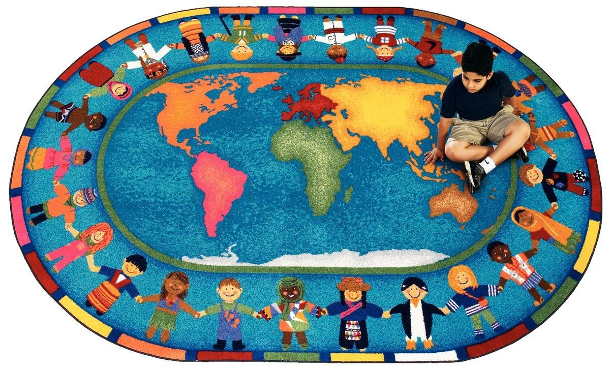 Hands Around The World Carpet Kids Area Rugs Kids Rugs Carpets For Kids