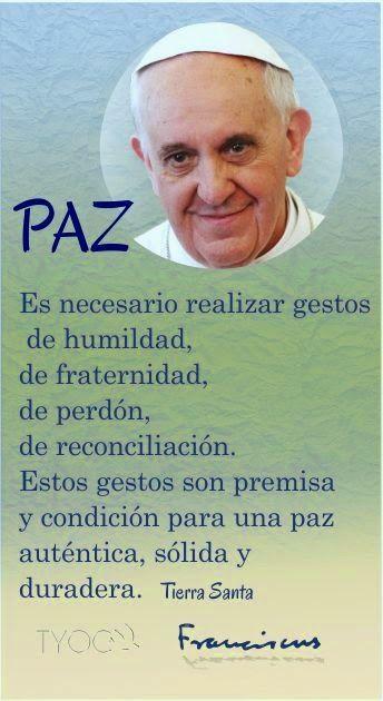 Tarjetas Y Oraciones Catolicas Paz Papa Francisco