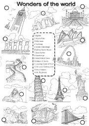 English teaching worksheets: Wonders of the World