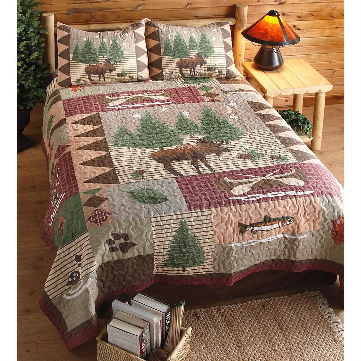 Moose Lodge Quilt Set great look for your lodge, cabin