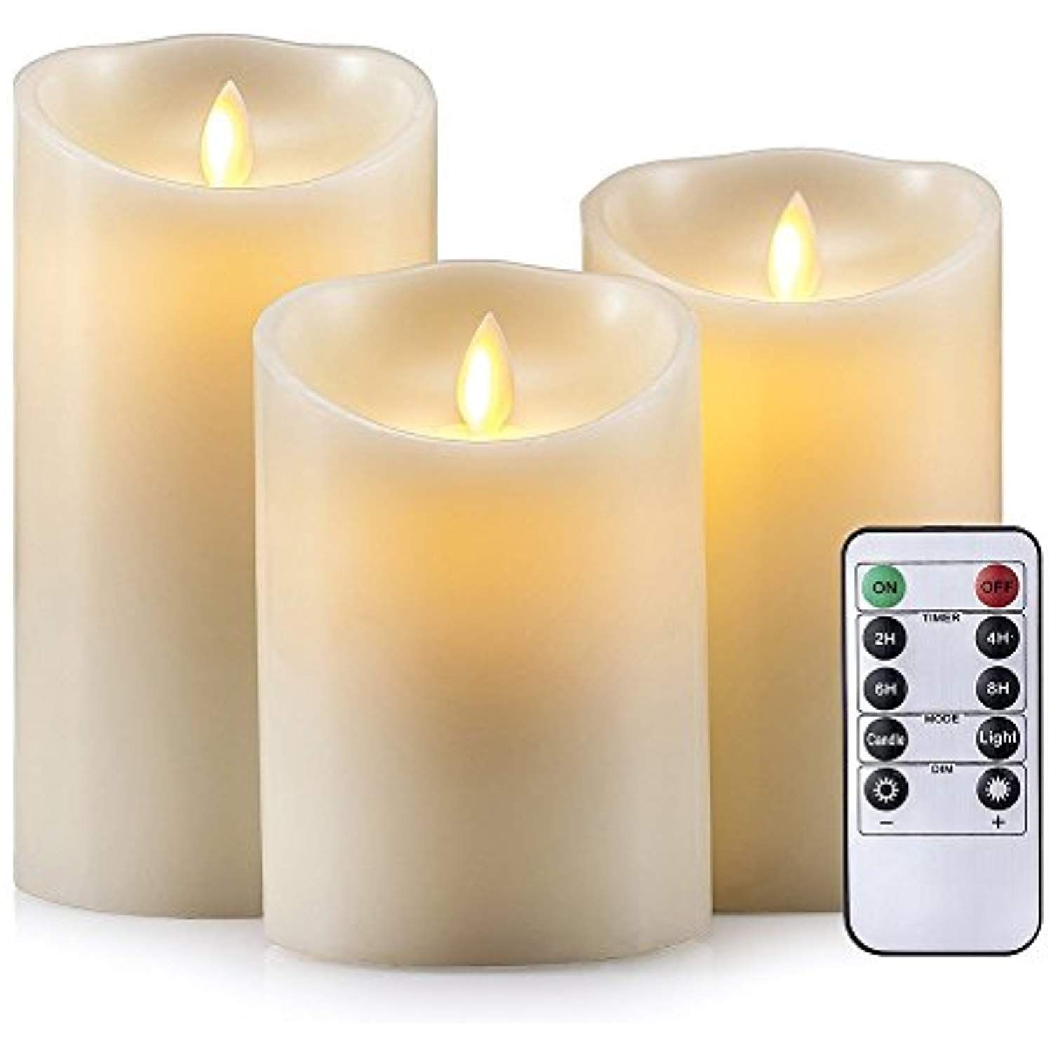 Air Zuker D Cell Flameless Candles Dancing Flame Wax Pillar Led Candle 500 Hours Lighting Use D Cell Battery No Flameless Candles Led Candles Novelty Candles