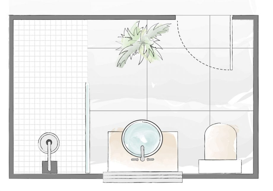 Bathroom Layout Plans For Small And Large Rooms Bathroom