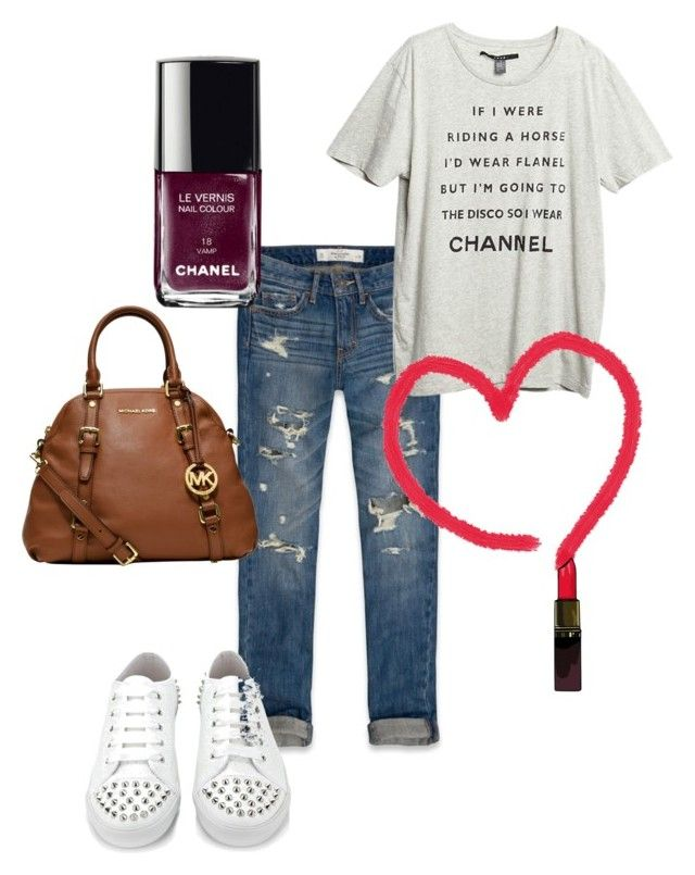 """""""the"""" by pinkcrema on Polyvore featuring moda, Abercrombie & Fitch, KG Kurt Geiger, MICHAEL Michael Kors ve Chanel"""