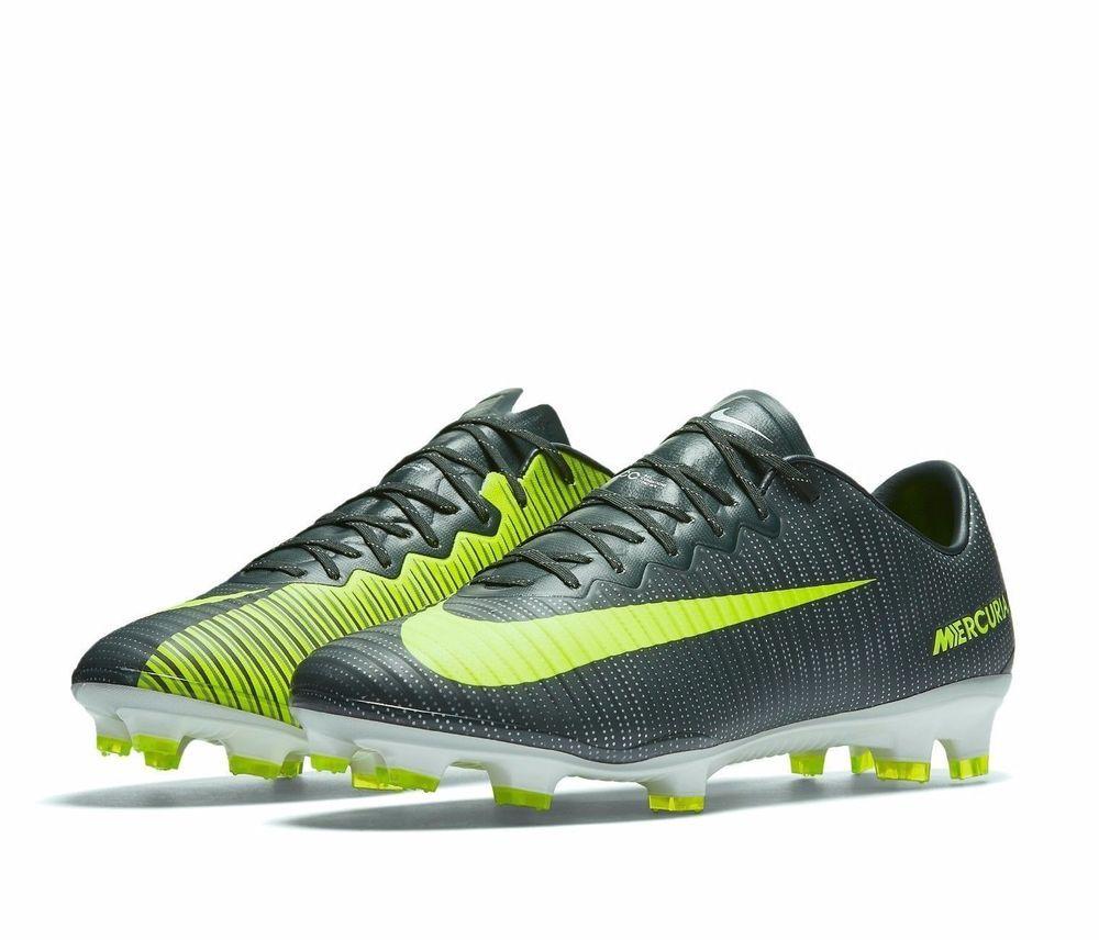 8b981675c4c Nike Mercurial Vapor XI CR7 FG Soccer Cleats Mens 11.5 Seaweed Volt 852514  376  Nike