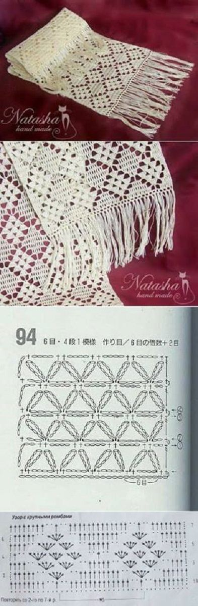 patron bufanda-estola-foulard-crochet-otakulandia.es (24) | BUFANDAS ...