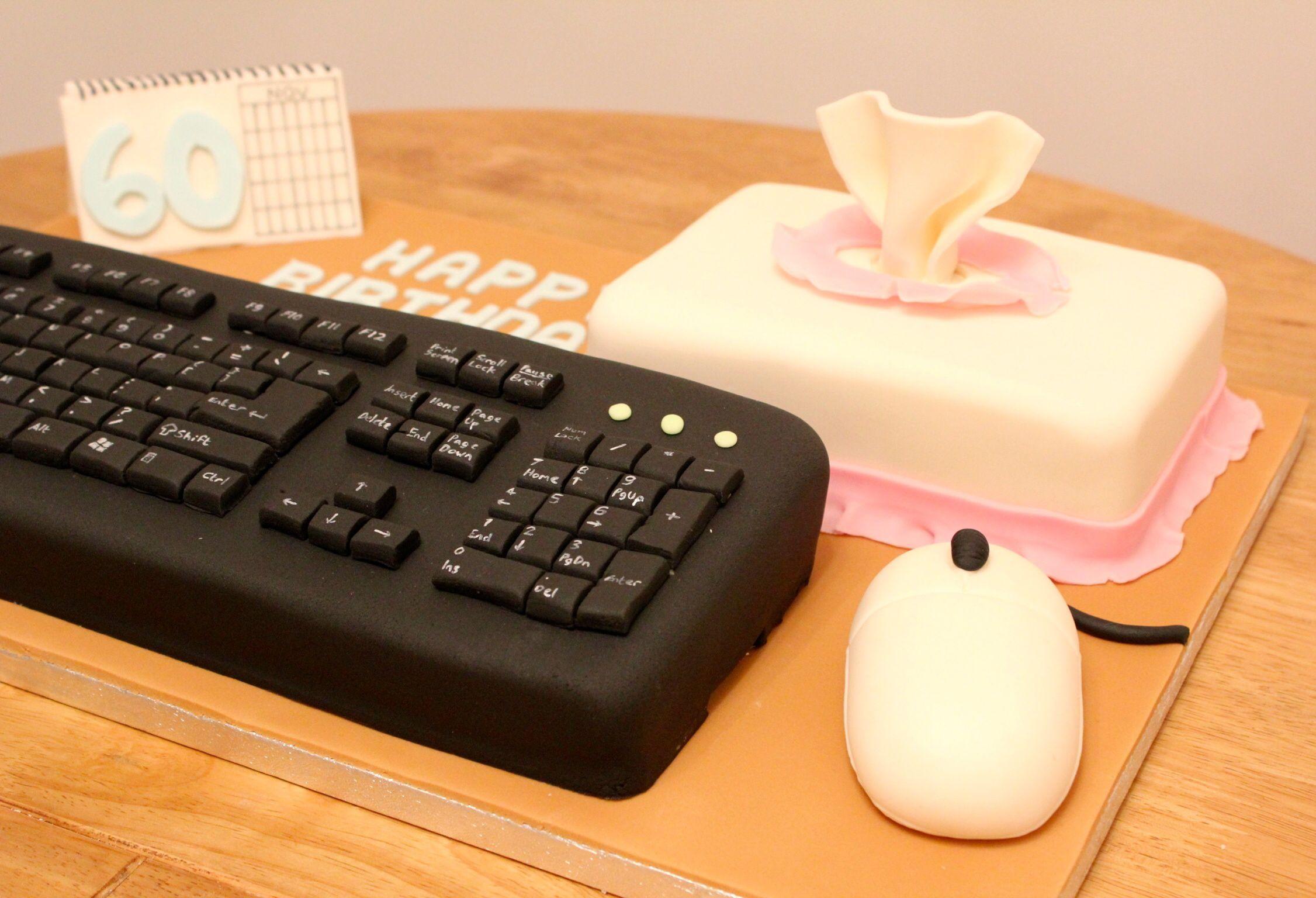 Computer keyboard cake by Fondant Fancy | Cake in 2019 | Computer