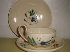 "Kähler (Herman A. Kähler) tea cup ""Løjtnantshjerte"" from 1910-20s. Signed HAK. #kahler #ceramics #pottery #hak #tea #cup #dansk #keramik #tekop #danish"