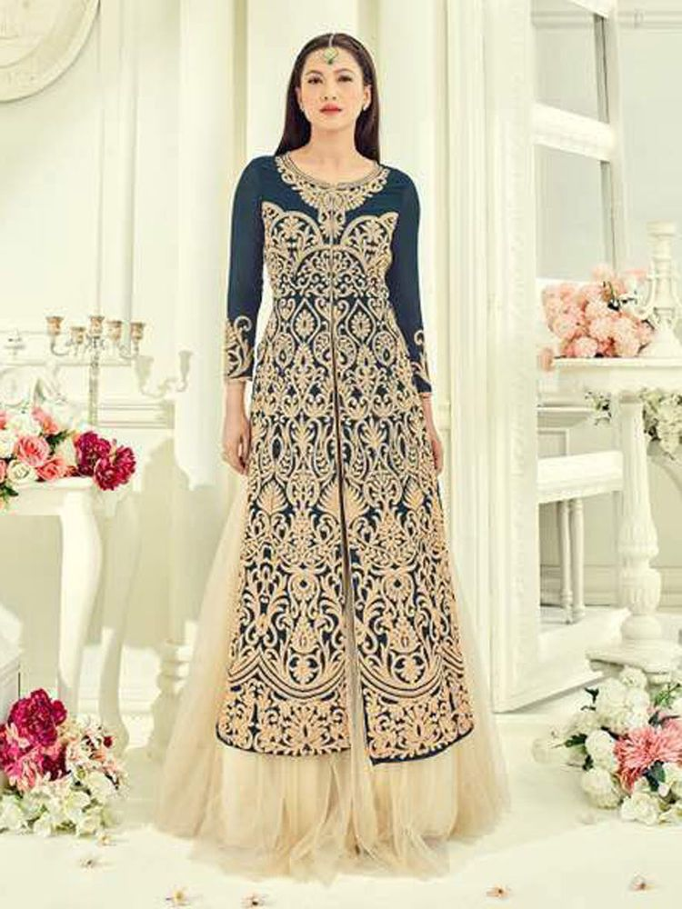 Indian designer bollywood stylish party wear dresses gown for girls ...