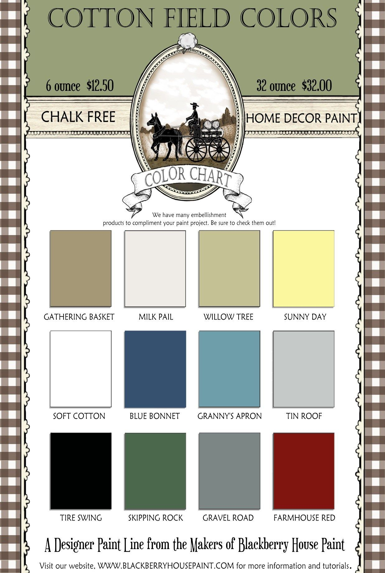 The Cotton Field Colors Line From Blackberry House Paint Blackberryhousepaint Cottonfieldcolors Furniturepaint Homedecorpaint Chalkfreepaint