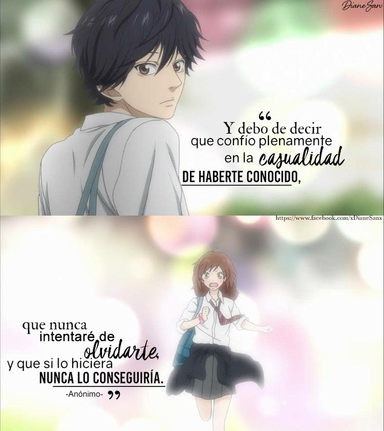 Ao Haru Ride Kou And Futaba Frases De Anime Futaba Y