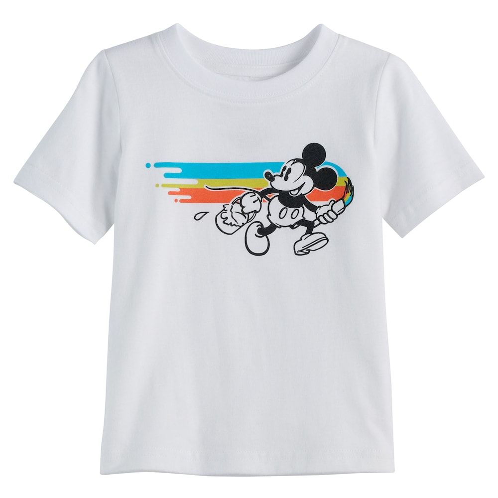d613b408 Disney's Mickey Mouse Baby Boy Paint Graphic Tee by Jumping Beans®, Size:  24 Months, White