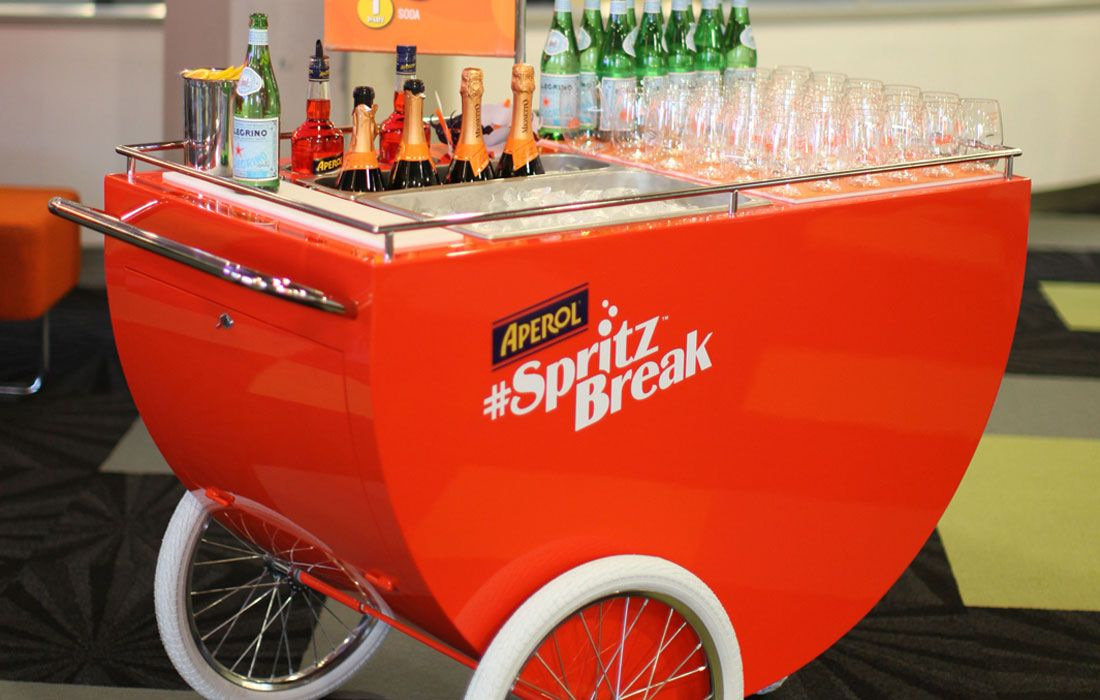 aperol spritz push cart