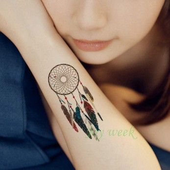 efbb6391e Waterproof Temporary Tattoo sticker on body dreamcatcher dream catcher  tattoo Water Transfer flash tatoo fake tattoo for girl  #tattoosformenmeaningful