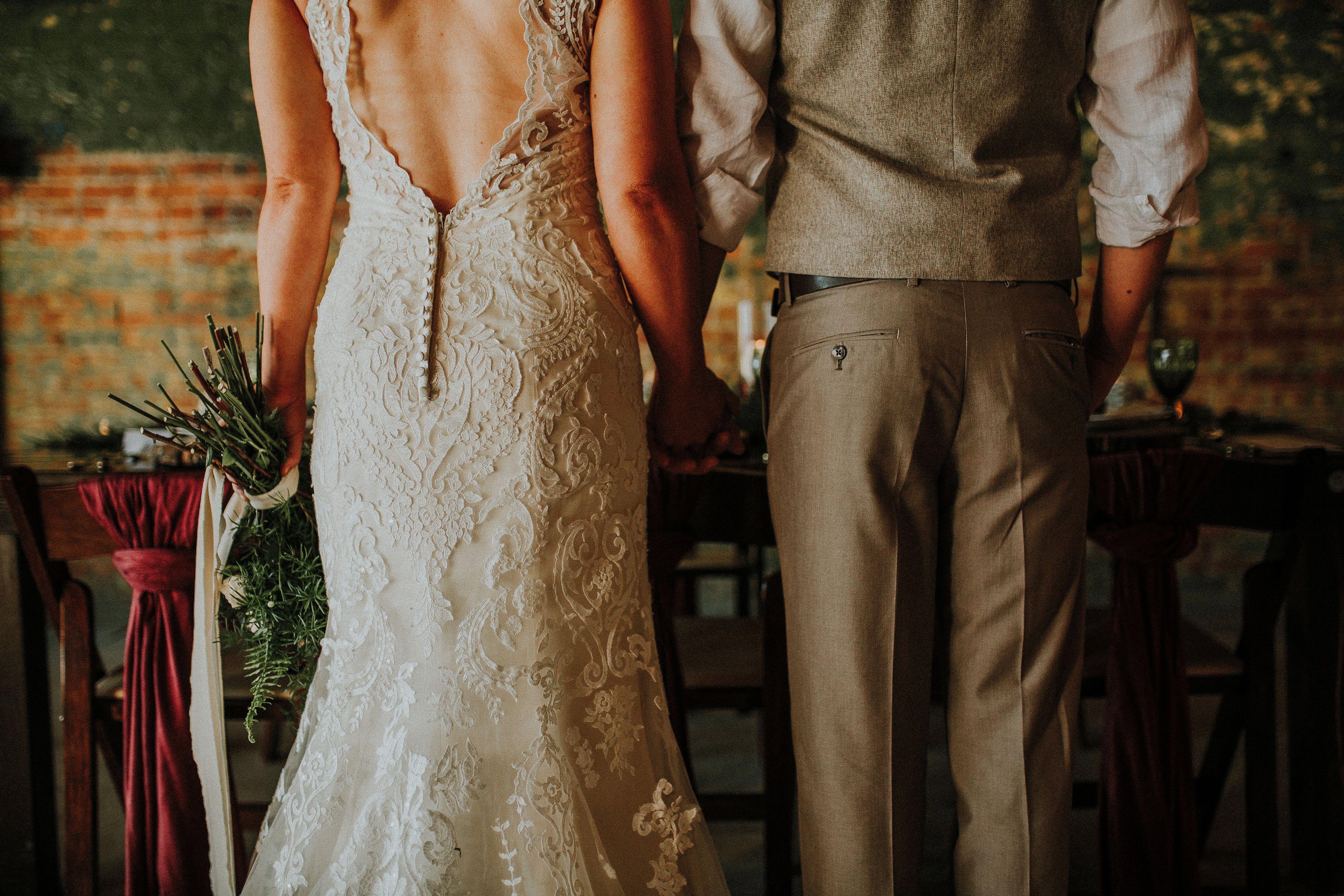 Natural wedding dresses  Moody wedding woodland christmas wedding christmas wedding styled
