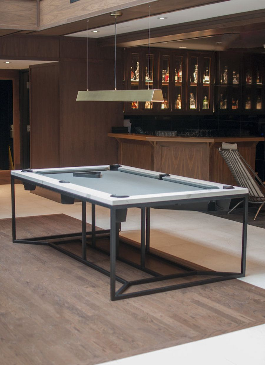Table De Ping Pong Transformable refined marble pool table for a luxurious hotel in montreal