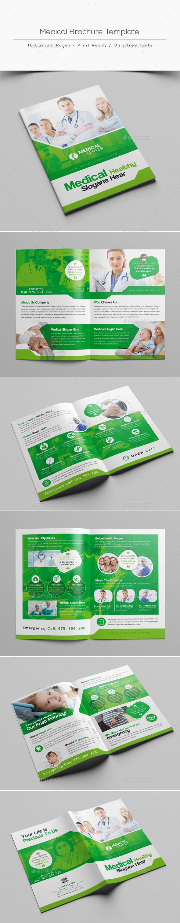 medical brochure template photoshop psd simple print available here https