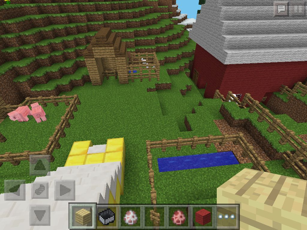 This is the petting zoo part of the huge park I built (Minecraft)