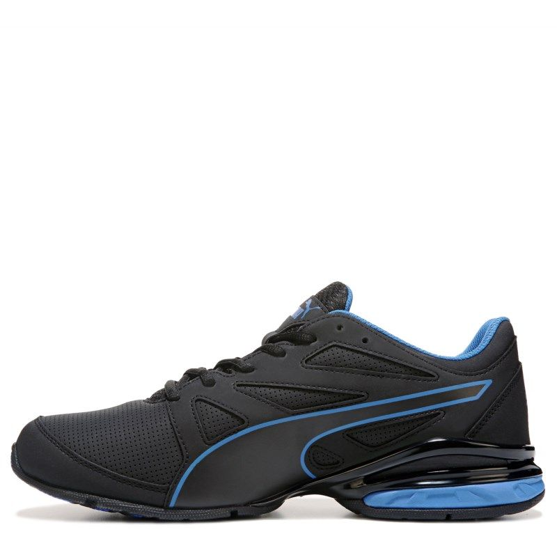 63f0afffaac Puma Men s Tazon Modern Softfoam Running Shoes (Black Blue)