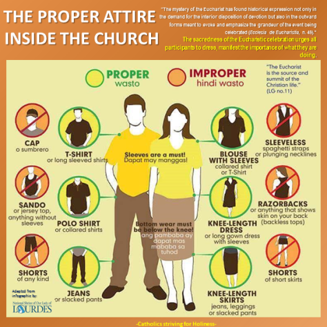 JUST A FRIENDLY REMINDER :) THE PROPER ATTIRE INSIDE THE