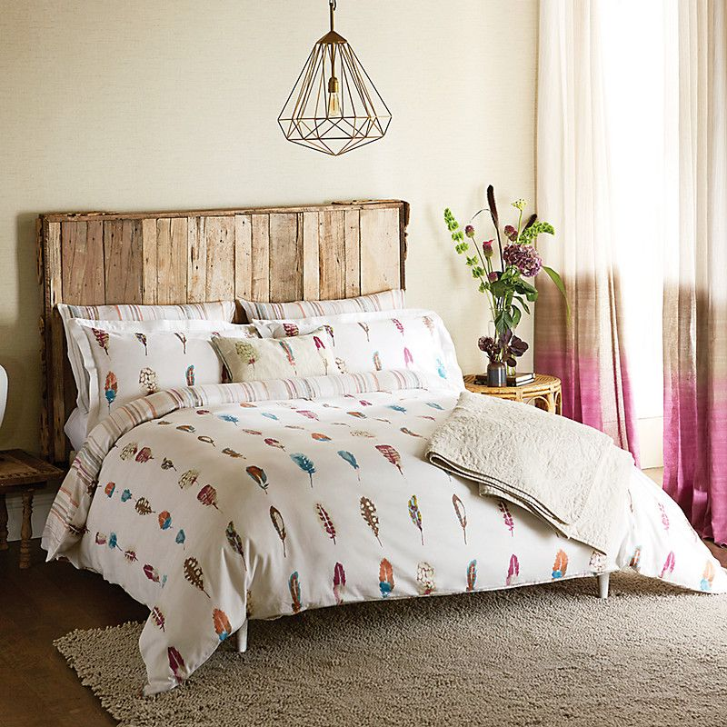 Inky Feather Print Bedding From John Lewis. So Pretty!