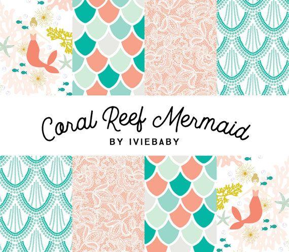 coral reef mermaid baby bedding collection baby bedding mermaid rh pinterest com