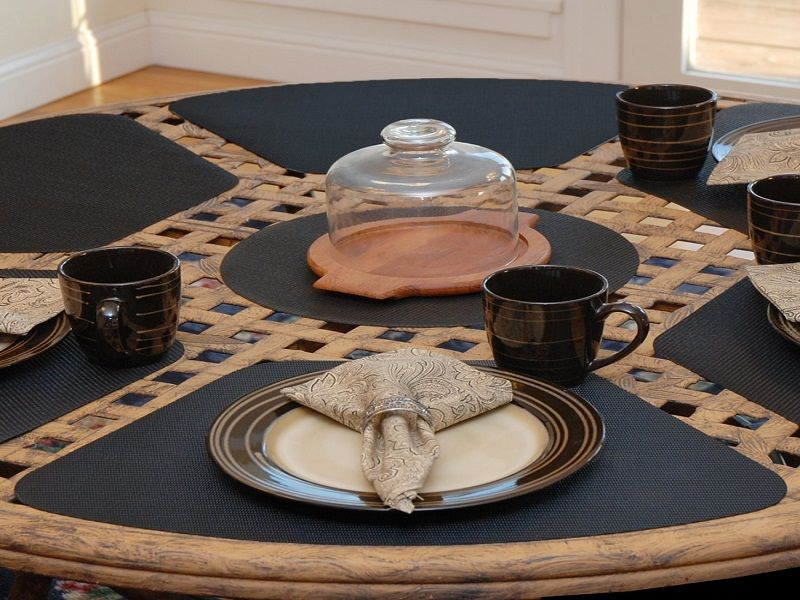 Round Table Placemats.Making Placemats For Round Table Eating The Table Placemats For