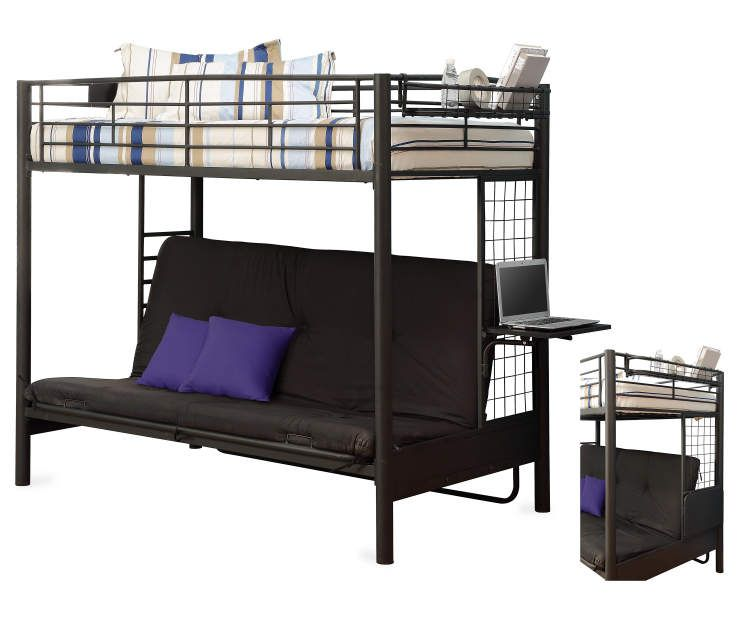 Futon Bunk Bed Twin Beds