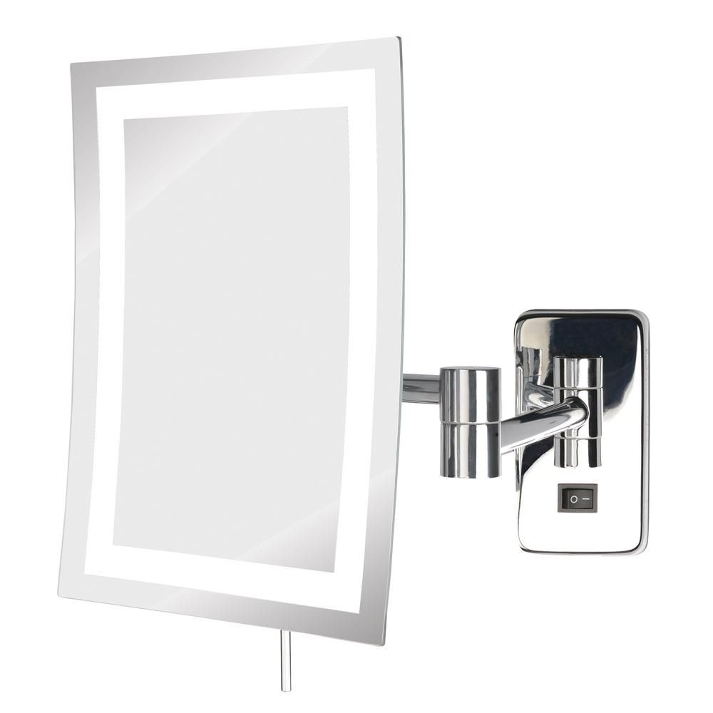 Jerdon 8 In X 11 In Led Lighted Wall Makeup Mirror In Chrome Jrt710cld The Home Depot Lighted Wall Mirror Wall Mounted Mirror Wall Mounted Makeup Mirror Lighted wall mounted make up mirror