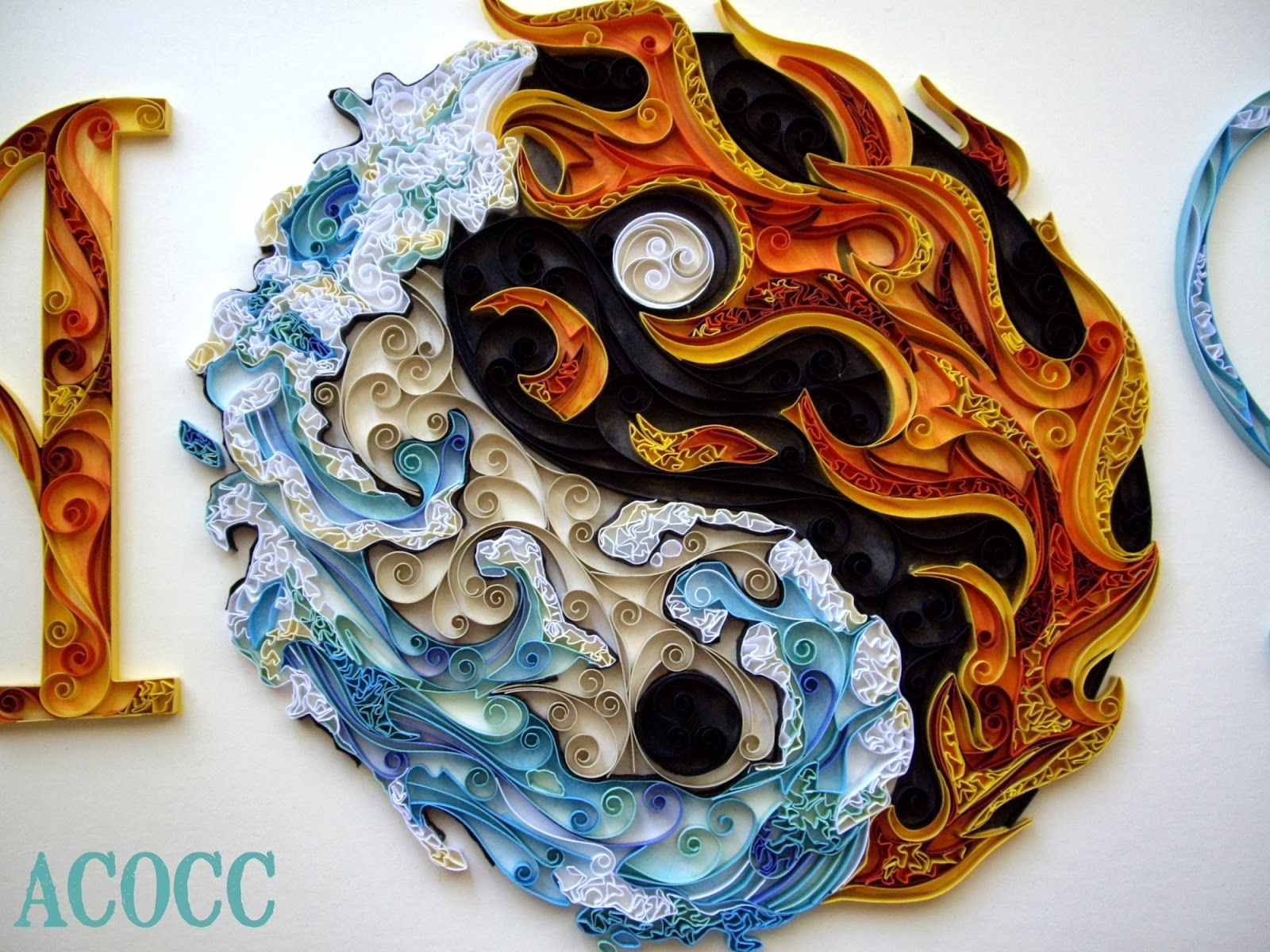 Yin-yang   - quilling and design by Michelle Jamieson