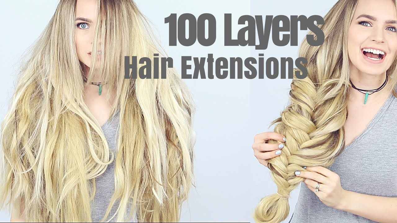 Fusion Hair Styles: 100 Layers Of Hair Extensions