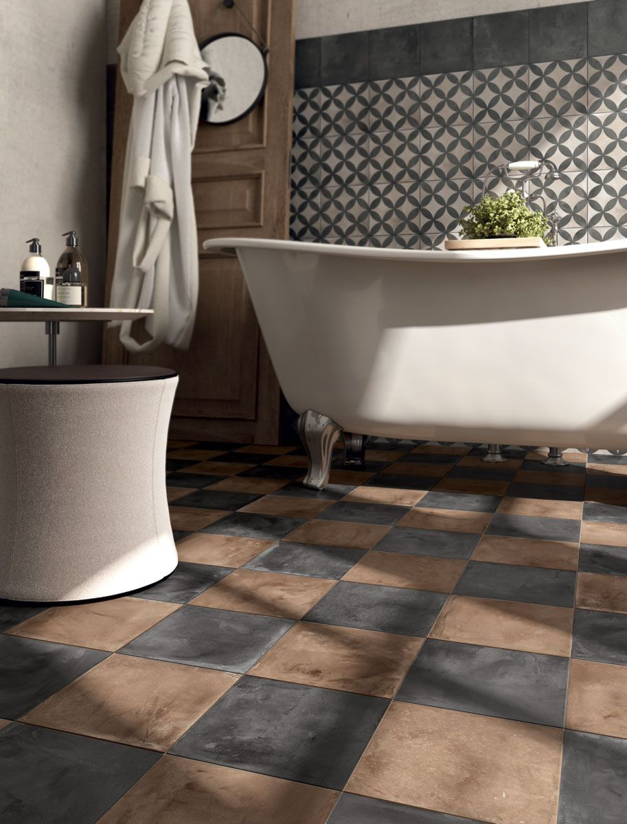 Funky traditional wall tiles for bathroom and kitchens chalky funky traditional wall tiles for bathroom and kitchens chalky terracotta floor tiles hipster bathroom dailygadgetfo Gallery