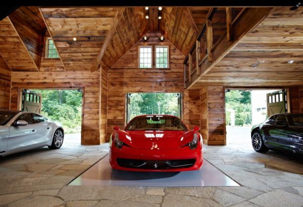Parked to Perfection Stunning Car Garage Designs Stone flooring