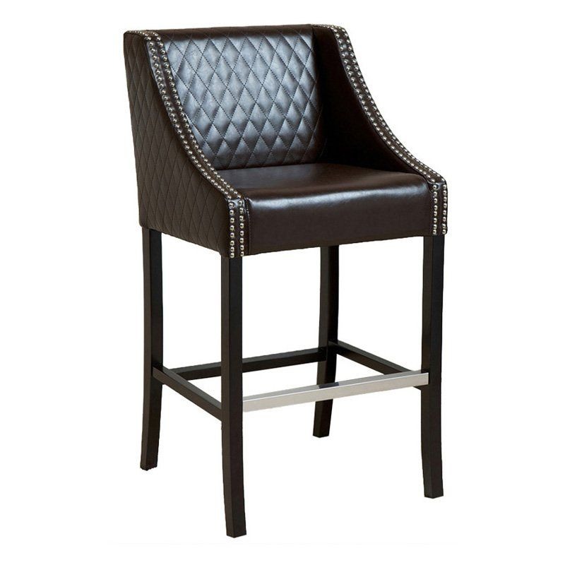 Unique Filton Quilted Leather Counter Stool