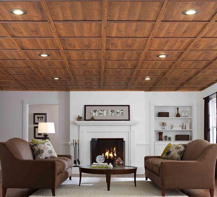 Wohnzimmer mit offenem Kamin in Braun und Weiß Decke Pinterest - Wohnzimmer In Weis Und Braun