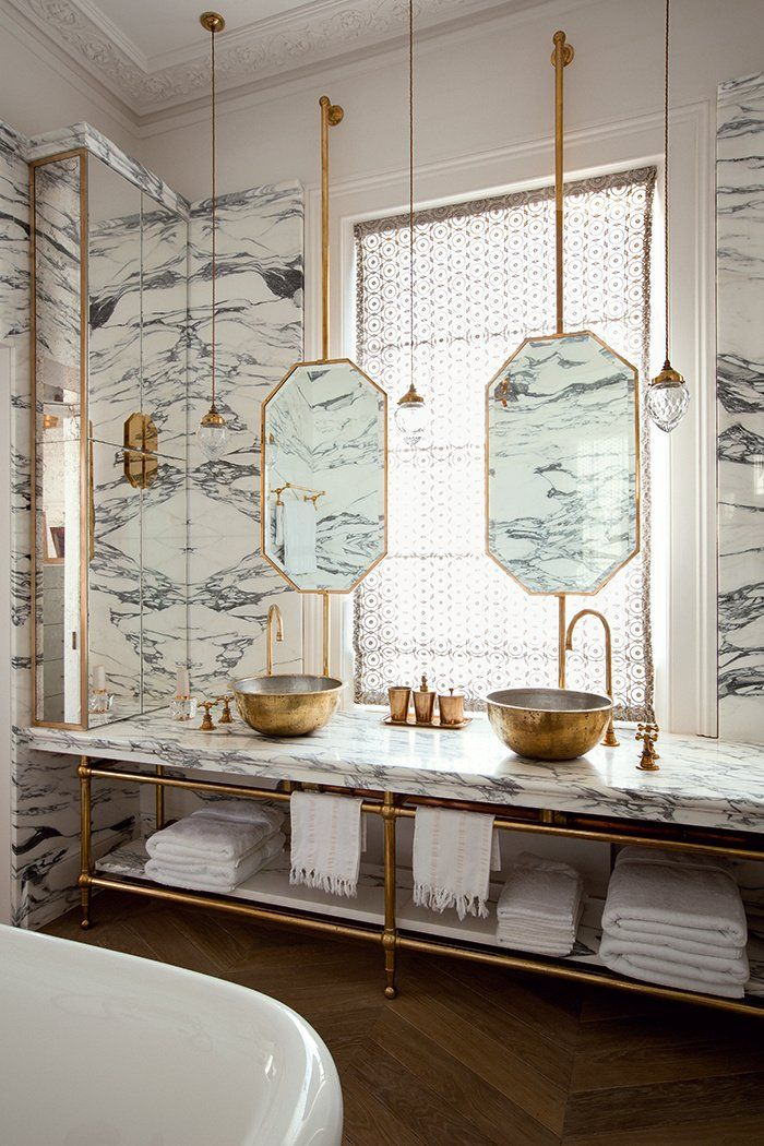 Je veux : une salle de bain art déco ! | Decor&Gardens | Pinterest ...