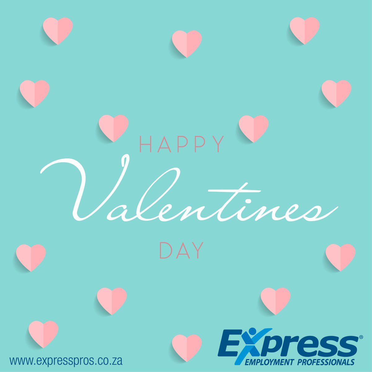 Happy Valentines Day From Express Employment Professionals Midrand Your Work Is Going To Fill A Large Part Of You Employment Happy Valentines Day Expressions