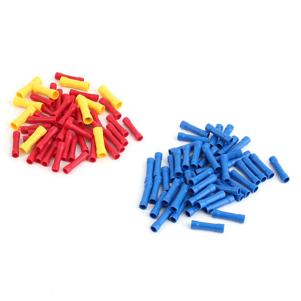100x Insulated Terminal Butt Connector Electrical Automotive Cable ...