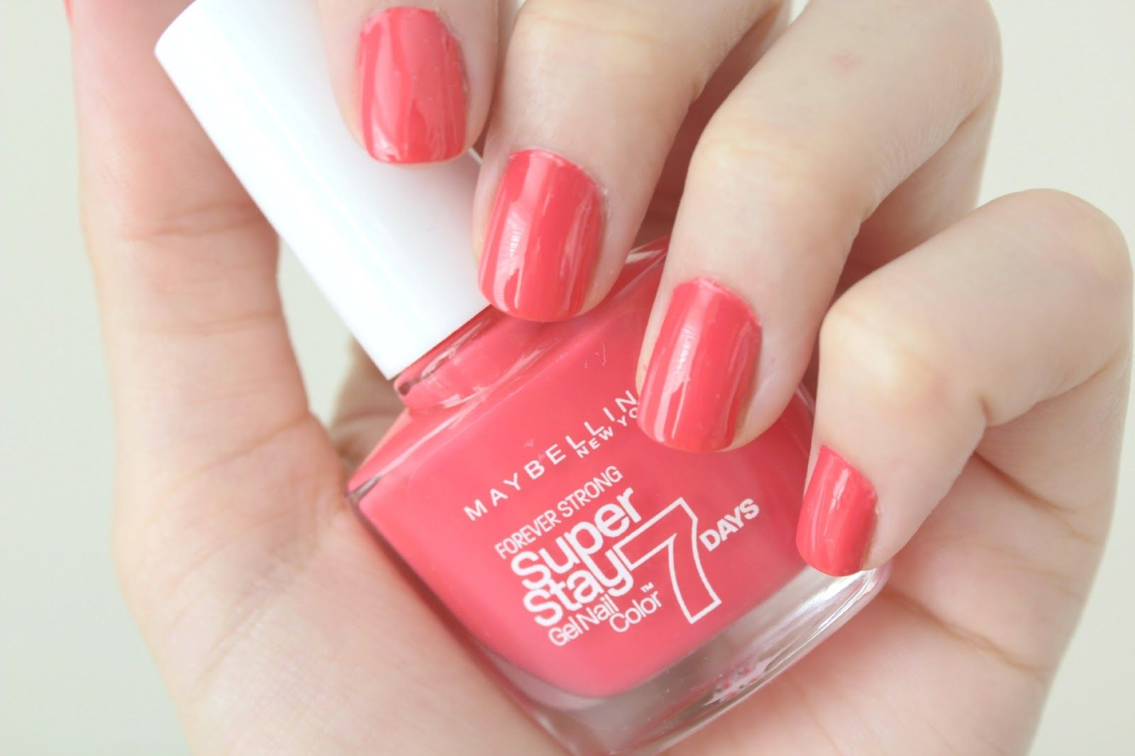 Maybelline Superstay 7 Day Nail Polish Hot Salsa Unas