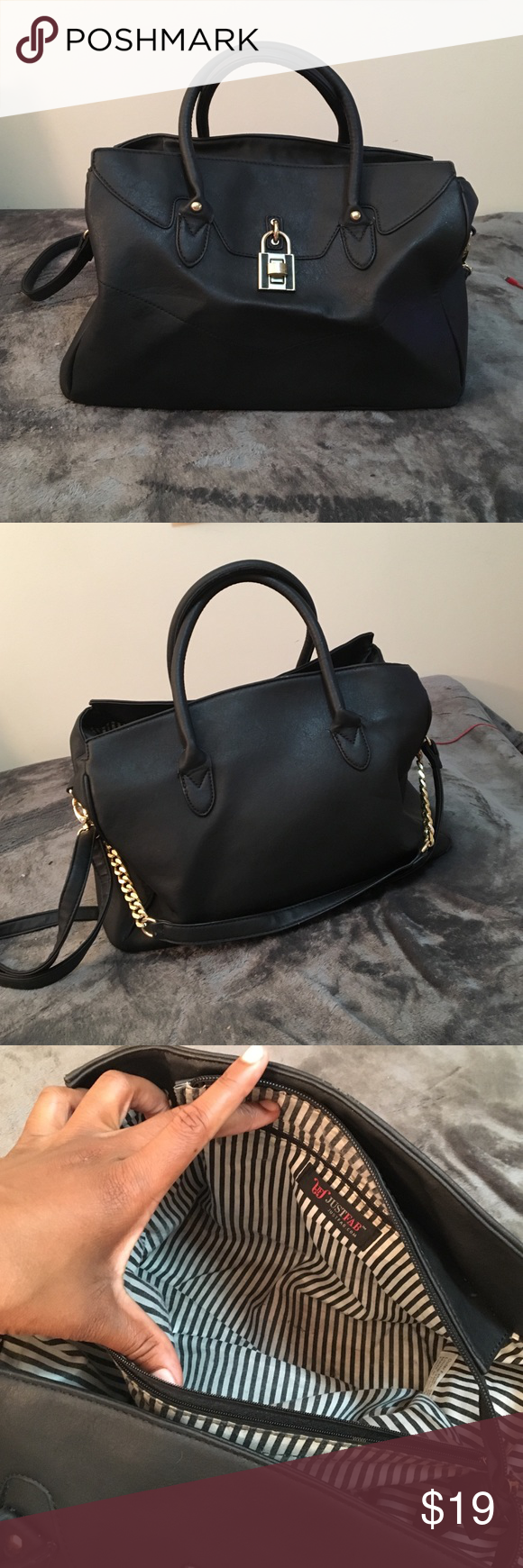 JustFab Handbag Black and cute with any outfit! Flaws on inside. Not brand listed. Forever 21 Bags